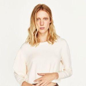 ✨ ZARA Knitwear Ruffled Sweater NWT